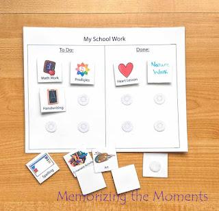 Free Printable Visual Homeschool Pre-K Schedule