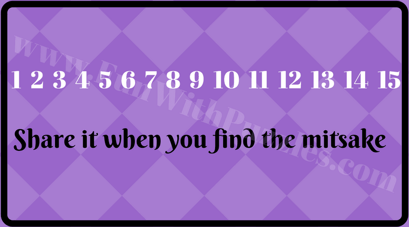 Tricky And Cool Find The Mistake Brain Teasers