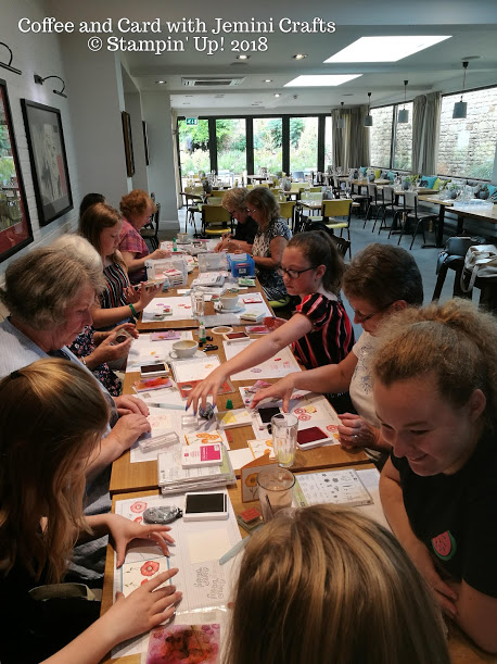 Coffee and card sessions every week with Jemini Crafts
