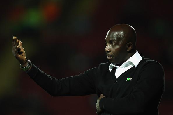 Samson Siasia during Nigeria vs Ghana match