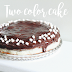 Two color cake