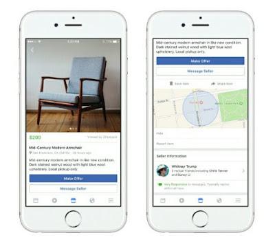 Kemudahan fitur facebook marketplace
