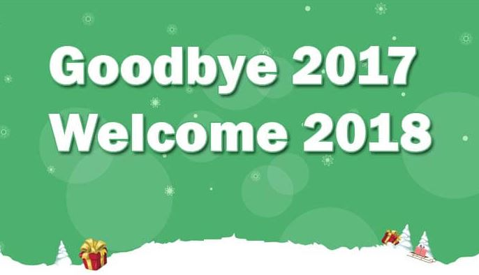 goodbye 2017 welcome 2018 picture image for facebook whatsapp