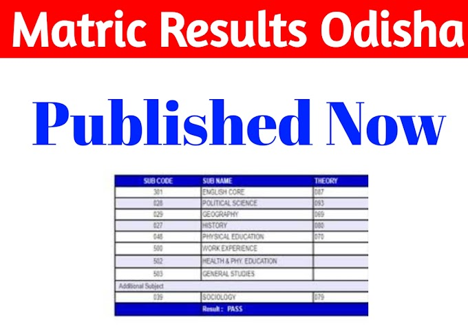 Matric Results Odisha Published Check On Orissaresults.nic.in