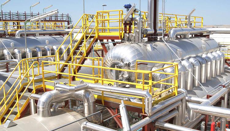 Sistema de vapor y condensado ubicado en una planta industrial en India