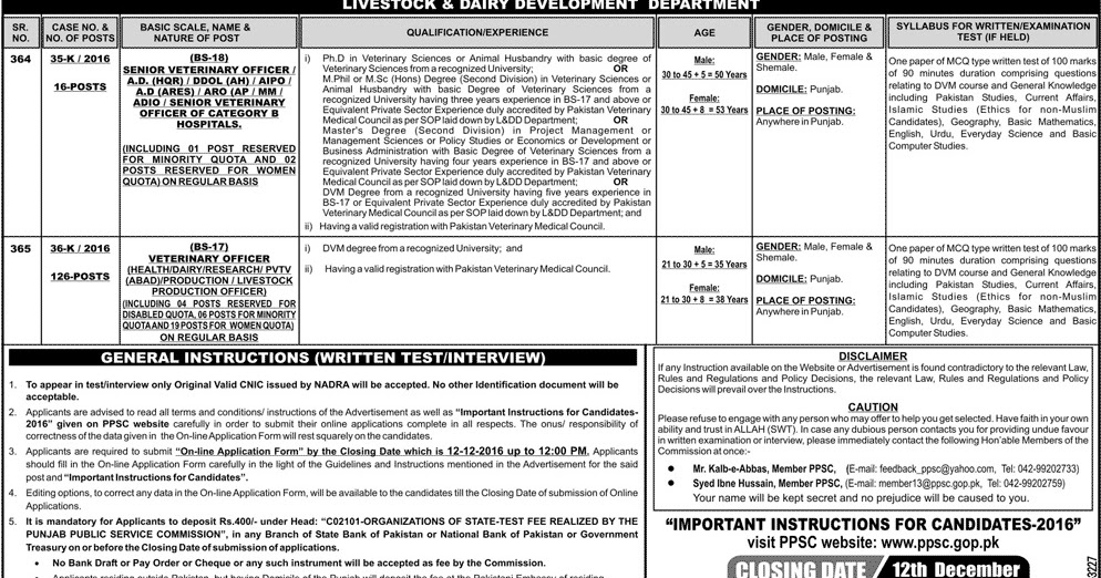 120 government jobs in ppsc punjab public service