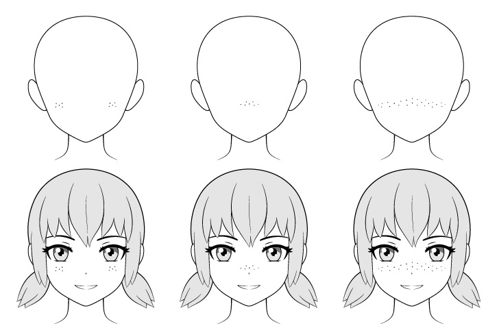 Bintik-bintik anime menggambar