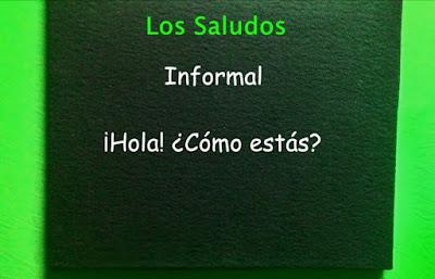 cuadro con saludos en español