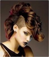 Colored Mohawk Hairstyle