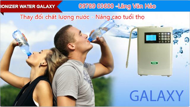 máy lọc nước điện giải galaxy cty đào viên phân phối độc quyền