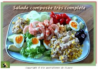 Vie quotidienne de FLaure: Salade composée très complète