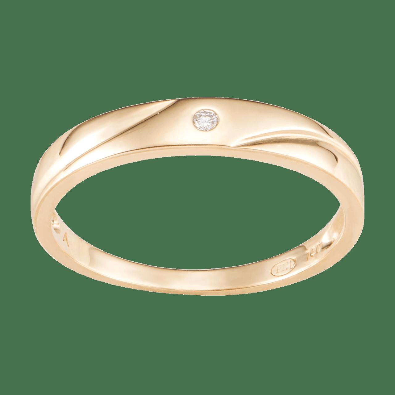 Nhẫn cưới Kim cương Vàng 18K PNJ Chung Đôi DD00Y000669