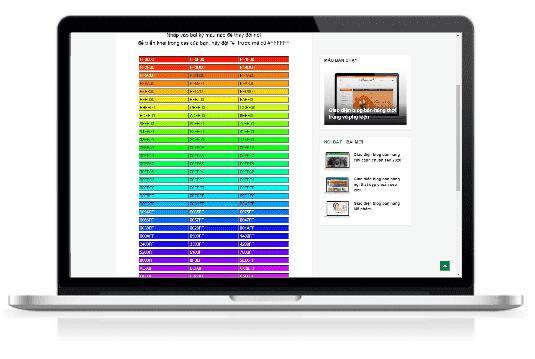 Trình tạo mã màu trực tuyến online cho blogspot