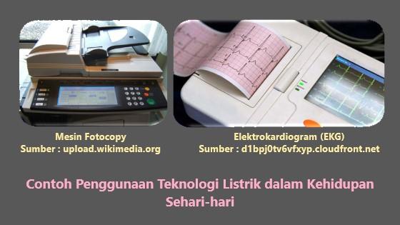 mesin fotocopy, elektrokardiogram