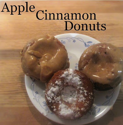 Great way to enjoy apples this fall season, Apple Cinnamon Donuts!
