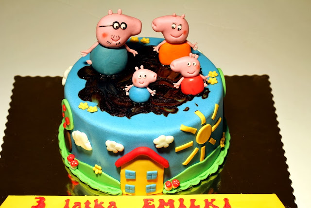 Peppa Bday Cake - Kids Birthday Cakes in London