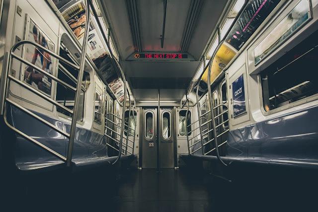Image: Interior of an Empty NYC Subway, by Igor Ovsyannykov on Pixabay