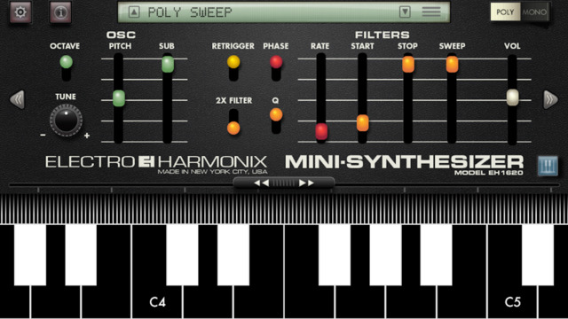 Electro-Harmonix Mini Synthesizer for iPhone and iPad released