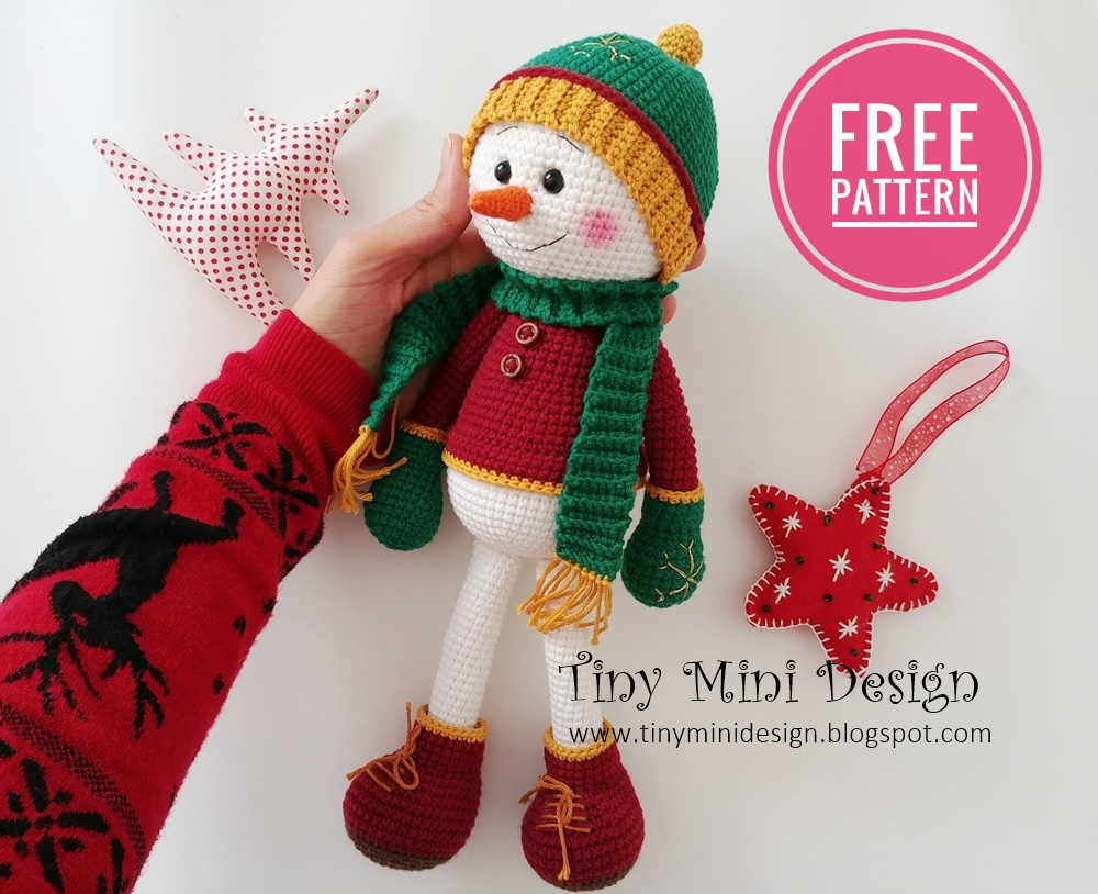 Crochet Patterns Free Pattern Amigurumi Snowman Source by ... | 814x1000