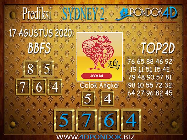 Prediksi Togel SYDNEY 2 PONDOK4D 17 AGUSTUS 2020
