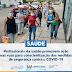 Prefeitura de Capistrano promove ação nas ruas para conscientização das medidas de segurança contra o Covid-19