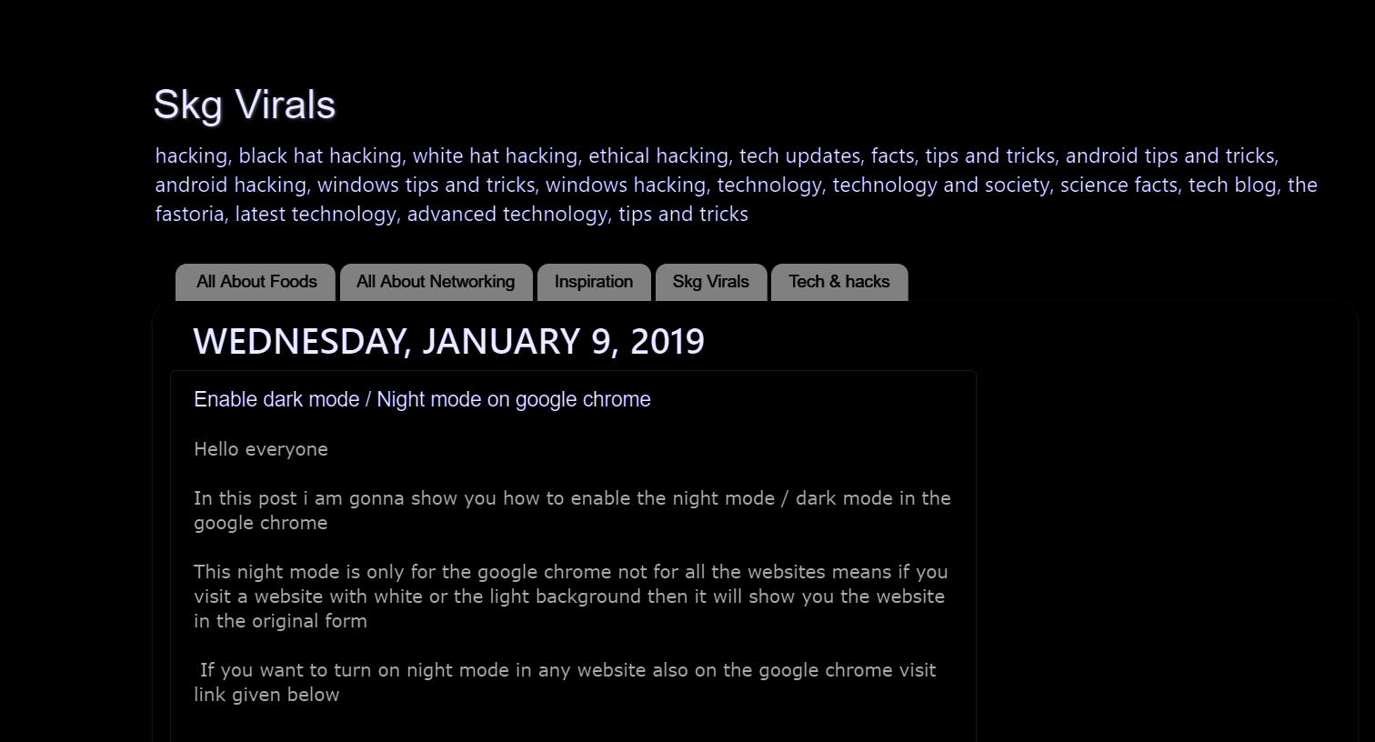674b3e6465b Skg Virals  Enable dark mode in any website as well as on google ...