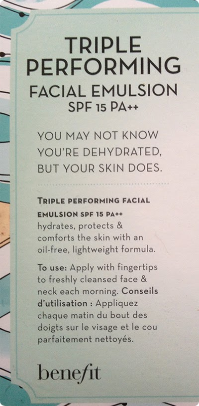 Benefit Triple Performing Facial Emulsion