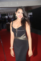 Madhu Shalini in a Glamorous Deep neck Black Sleeveless Dress at Mirchi Music Awards South 2017 ~  Exclusive Celebrities Galleries 037.JPG