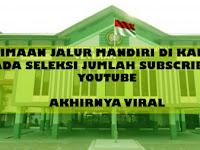 Seleksi Mandiri, UPN Syaratkan 10 Ribu Subscriber Youtube Bagi Pendaftar