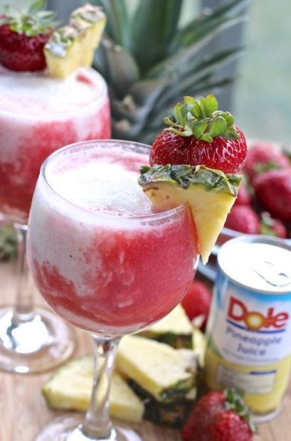 Easy Strawberry Pina Colada Mocktail