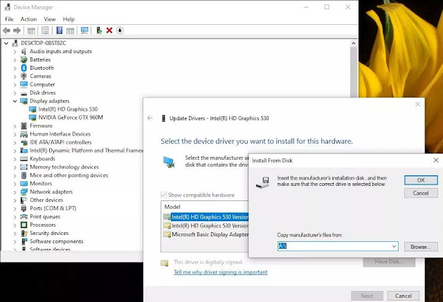 Cara Mengatasi The driver being installed is not validated for this computer di Windows 10-1