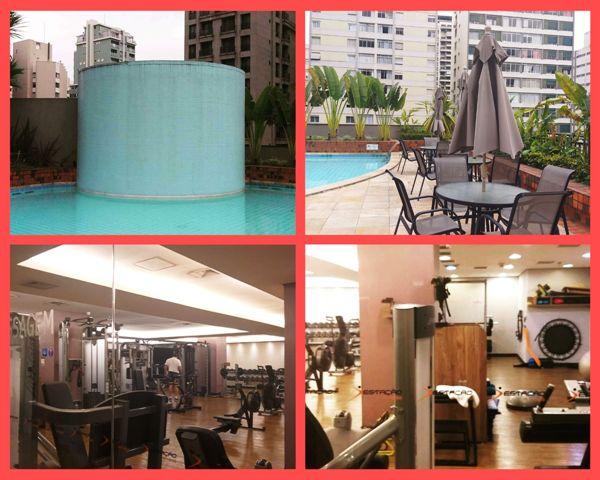 Piscina e academia do Hotel Intercontinental São Paulo
