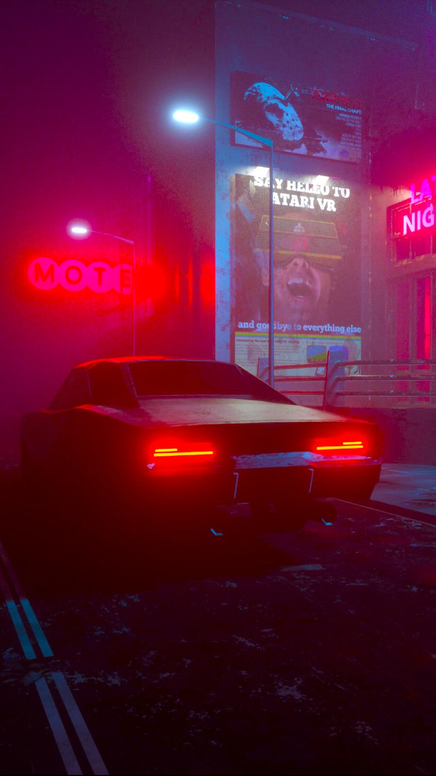 neon car wallpaper