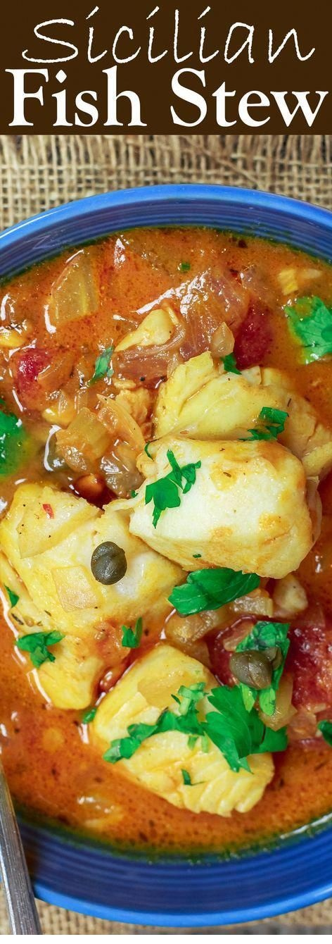 Sicilian-Style Fish Stew Recipe