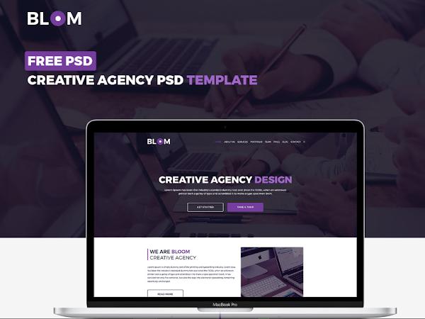 Free Bloom Creative Agency Design Templates PSD