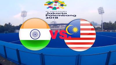 Live Streaming India vs Malaysia Hoki Sukan Asia 30.8.2018