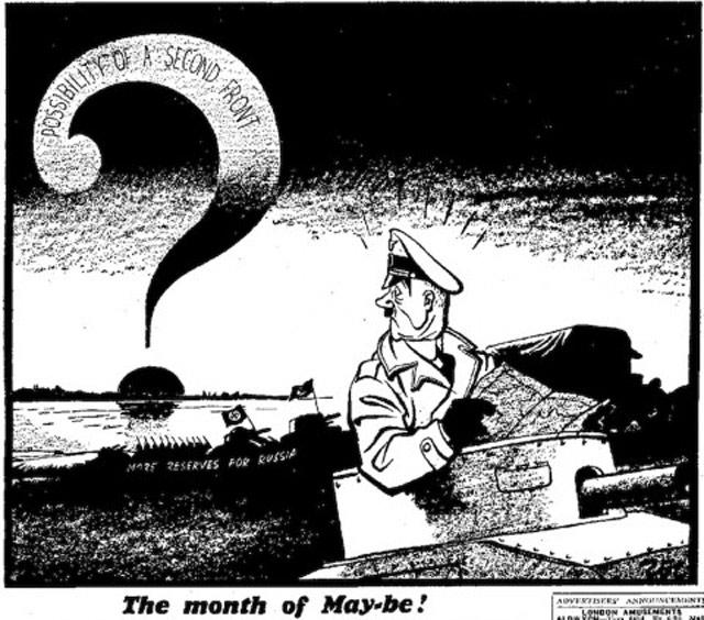 Hitler cartoon, 1 May 1942 worldwartwo.filminspector.com