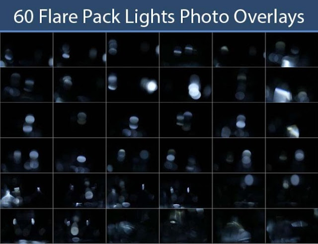 Download 60 Flare Pack Lights Photo Overlays Free
