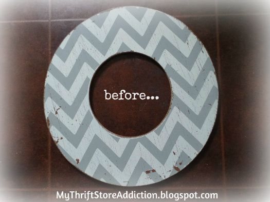 Beachy chevron wreath