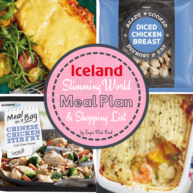 Iceland Slimming World Friendly Meal Plan Shopping List