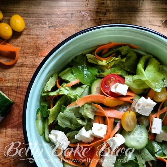 salad, green leaves, tomato, mixed salad, betty bake