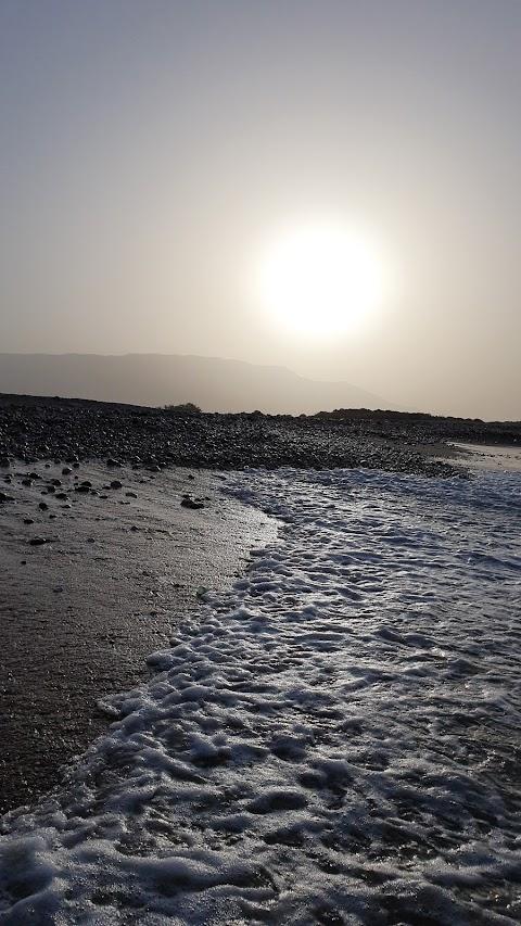 منظر غروب الشمس والبحر ( View of sunset and sea )