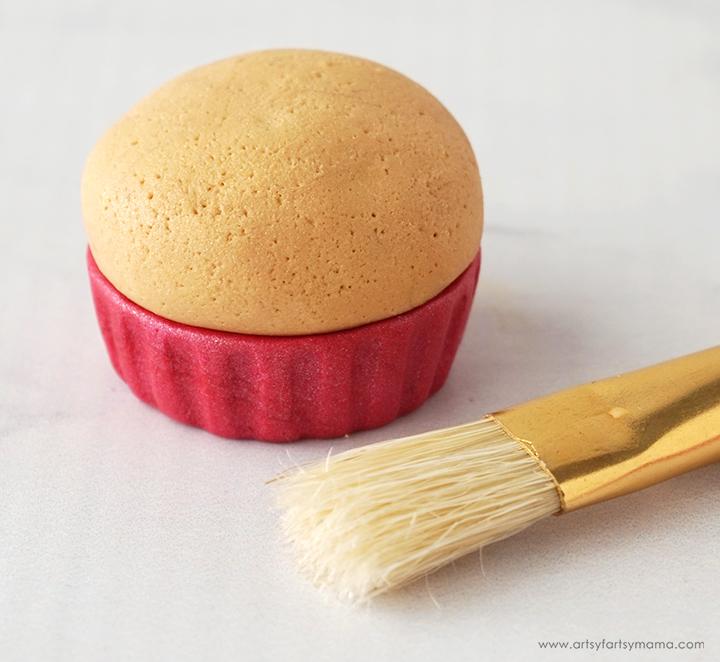 Polymer Clay Valentine Cupcake Texture