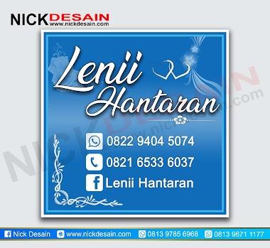 Contoh Desain Stiker Label Hantaran Wedding Warna Biru - Percetakan Tanjungbalai