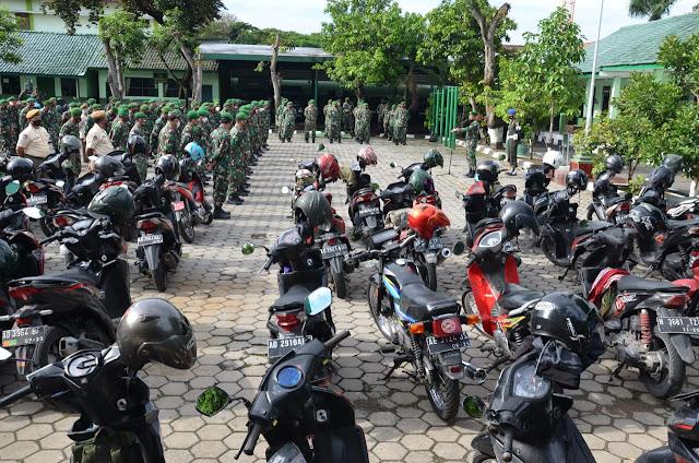 Kodim 0727 Karanganyar Gelar Pemeriksaan Kendaraan Anggotanya