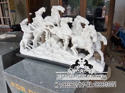 Patung Kuda Batu Marmer, Patung Kuda, Patung Kuda Renteng