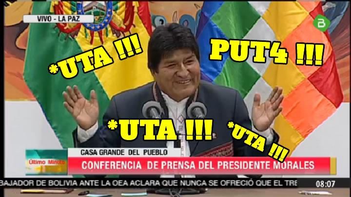 Evo Morales avergüenza a Bolivia con su lenguaje vulgar