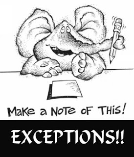 exception note
