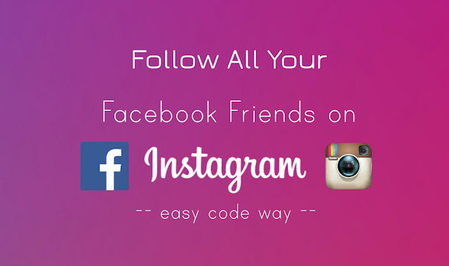 Follow Facebook friends on Instagram