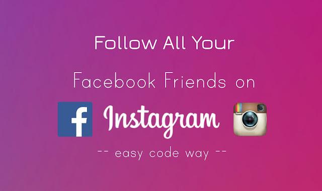 Follow Facebook friends on Instagram